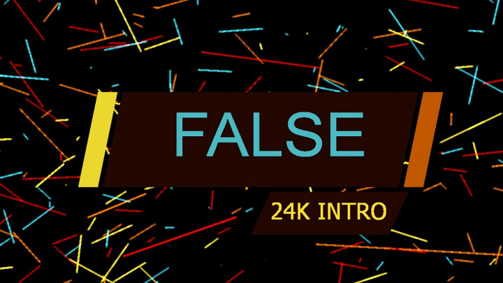 False 64k intro
